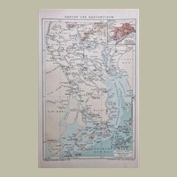 Antique Chinese Map Canton and Region Printed in 1899