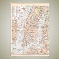 Antique Map New York 1898