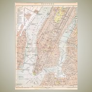 Antique Map New York 1898
