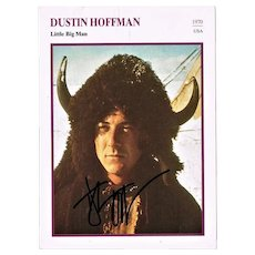 Dustin Hoffman Autograph. Little Big Man. CoA