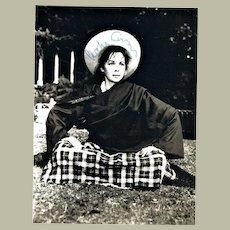 Leslie Caron Autograph. Photo-card. CoA