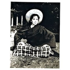 Leslie Caron Autograph. Photo-card. CoA