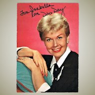 Doris Day Autograph: Hand-signed early Postcard. CoA