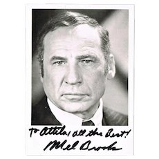 Mel Brooks Autograph. Hand-signed Photo. CoA