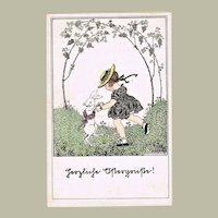 Mela Koehler Art Nouveau Easter-Postcard 1918