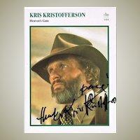 Kris Kristofferson Autograph. CoA
