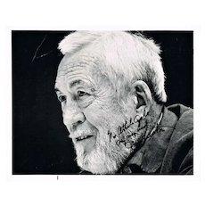 John Huston Autograph: 10 x 8, CoA