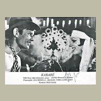 Liza Minnelli Autograph on Cabaret Movie Still. CoA. 7 x 9 in