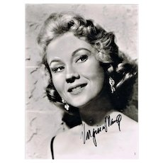Virginia Mayo Autograph, hand signed Photo 7 x 9. CoA