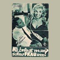 Jack Lemmon Autograph on 1965 Movie Program