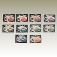 German Colonies: Set of Sealing Stamps