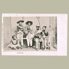 Countrymen in China. Old Qingdao Postcard with Chinese.