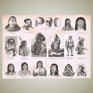 American Ethnics Lithograph from 1896