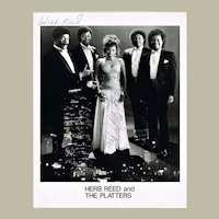 Herb Reed The Platters Photo with Autograph 8 x 10 plus The Willows Photo