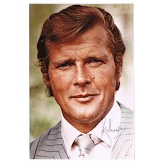 Roger Moore Autograph. Hand-signed Photo. CoA
