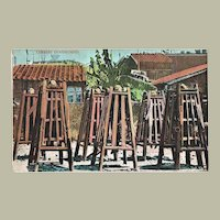 Chinese Prisoners Vintage Postcard from Revolution Period
