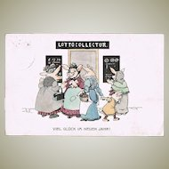 Pigs and Lottery. Ney Year's Postcard 1912
