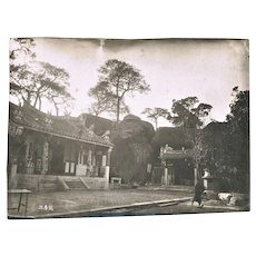Antique Photo of Chinese Temple in 1903
