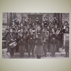 Antique China Photo with Brass Band