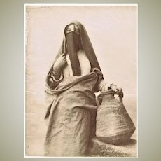 Antique Large Photo of a Bedouin Lady