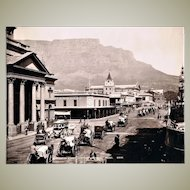 Antique Photo Adderley Street Capetown c. 1904