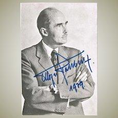 Otto von Habsburg Autograph CoA