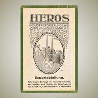 Heros Wien Advertising Postcard. Scarce.