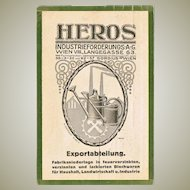 Heros Wien Advertising Postcard. Scarce.