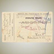 WWI: Postcard from POW Siberia, 1916