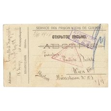 WWI: Postcard from POW Siberia, 1916