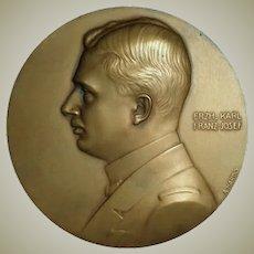 Archduke Karl. Oesterr. Fleet Union. A. Hartig Plaque