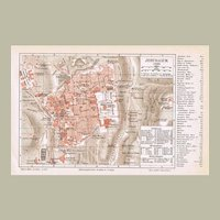 3 old Maps Jerusalem and Palestine 1900