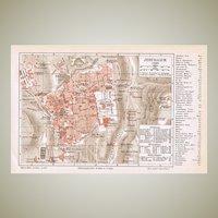3 old Maps Jerusalem and Palestine 1900