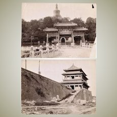 Two Antique Chinese Photos from Peking c. 1905