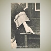 Lily Foot. Footbinding in China. Vintage Postcard