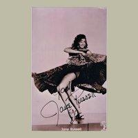 Jane Russell Autograph on Photo. CoA
