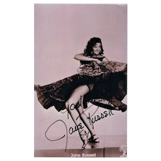 Jane Russell Autograph on Photo. CoA