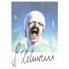 Gottfried Helnwein Autograph. Blackout. CoA