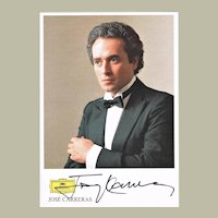 Jose Carreras Autograph on Discography Card . CoA