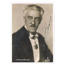 Johann Strauss III Autograph in Photo COA