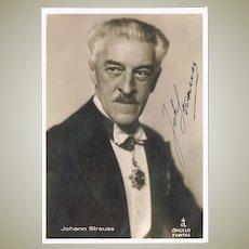 Johann Strauss III Autograph in Photo COA