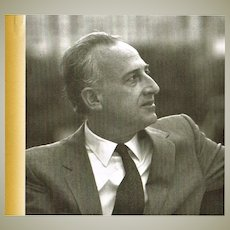 Mauricio Pollini Autograph. Signed Program Booklet.