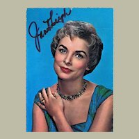 Janet Leigh Autograph. Hand-signed Postcard, CoA