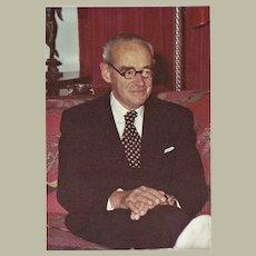 Fuerst von Bismarck Autograph. Photo and Letter, 1975