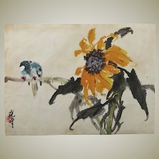 Zhao Shaoang Attributed Flower Bird Painting