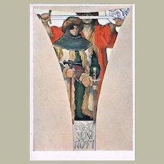 Alphonse Mucha Postcard 1914 Bojovnost