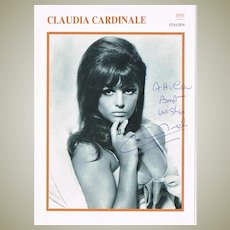 Claudia Cardinale Autograph Hand signed Portrait Print. CoA