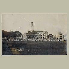 Singapore vintage Postcard Cricketground with Spectators