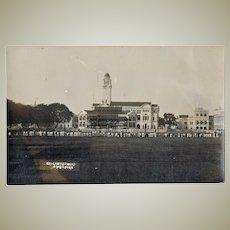 Singapore vintage Postcard Cricketground with Spectators