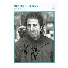 Dustin Hoffman Autograph, Asphalt Cowboy. CoA